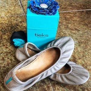 Tieks - Taupe - With Original Box